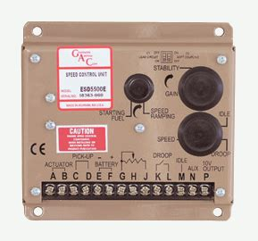 gac esd series esde governors america corp analog governor power systems