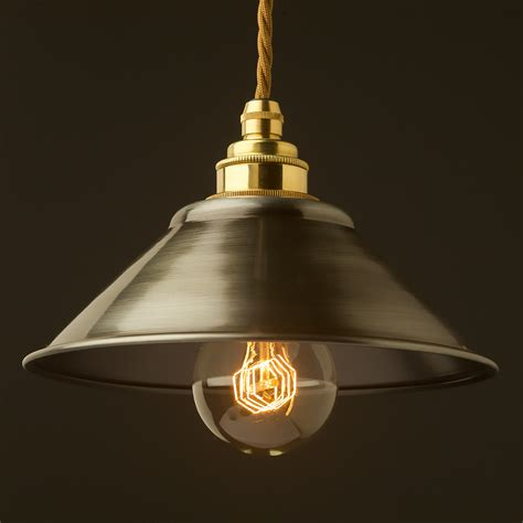 Light Shade Pendant Antiqued Steel Light Shade 190mm Pendant