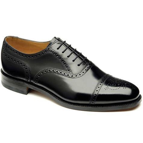 loake shoes loake shoes 201 semi brogue polished black