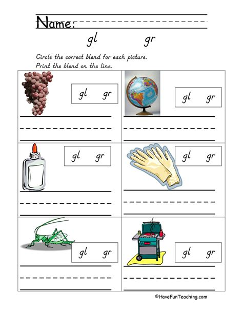 L Blend Worksheets by Consonant Blend Worksheet Referencecom Answers
