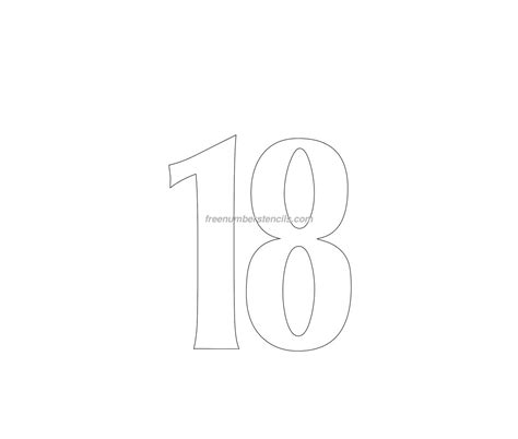 Free House 18 Number Stencil Freenumberstencils Com House Number Template
