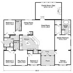 Hacienda Floor Plans The Hacienda Flex Vr57664a Manufactured Home Floor Plan Or