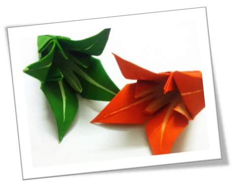 How To Make Paper Lilies - how to make origami lilies platter