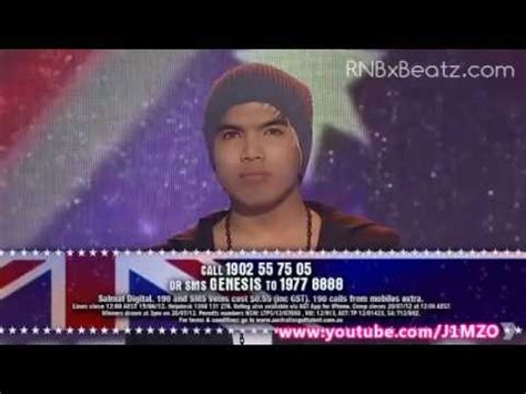 genesis got talent genesis beatboxer australia s got talent 2012 semi