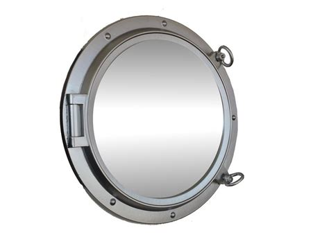 porthole mirror buy silver finish decorative ship porthole mirror 24 inch