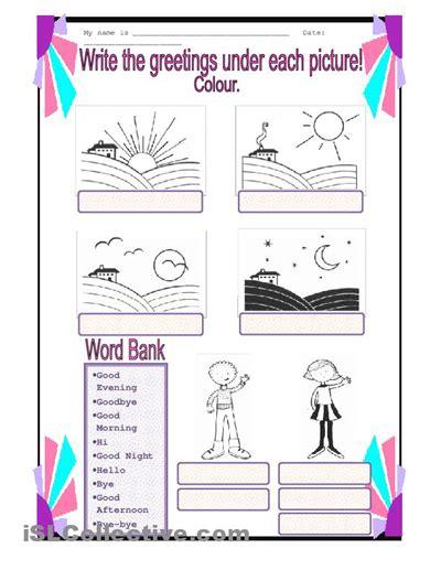 greetings worksheets for worksheets for kindergarten greetings