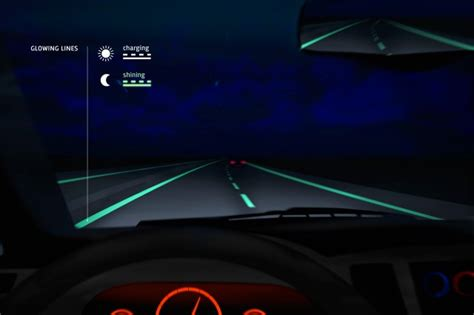 glow in the car paint uk glow in the roads make debut in netherlands ars