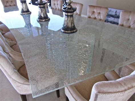 shattered glass table top contemporary dining room
