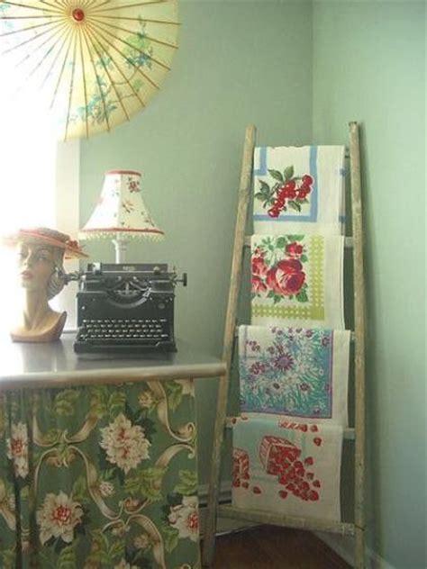 vintage linens display cottage ideas pinterest