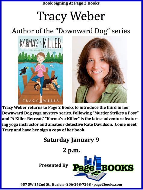 meet p books meet author tracy weber at page 2 books saturday the b