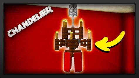 Build A Chandelier Minecraft How To Make A Chandelier