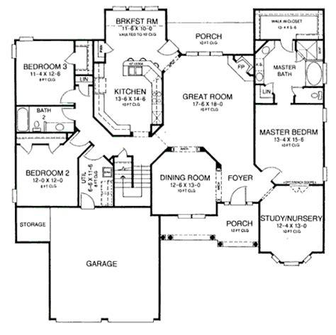 nursery floor plans a study nursery near master suite 5430lk architectural