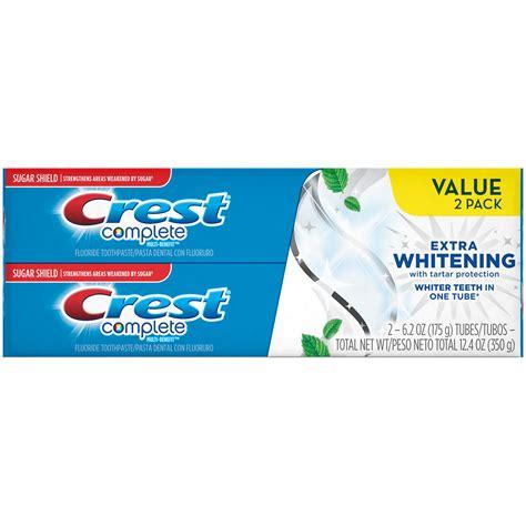 toothpaste whitening crest whitening extra whitening toothpaste with tartar