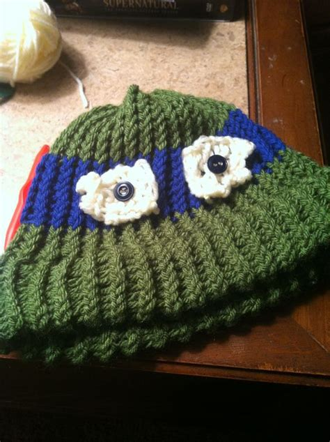 knitting pattern for ninja turtles ninja turtle hat knitted on a loom december 2012 my