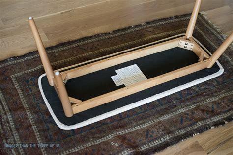 rug bench vintage rug upholstered bench tutorial bigger than the