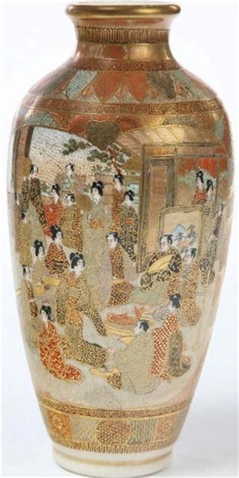 Japanese Vases Values by Satsuma Pottery Japanese Vases 2 Ovoid Samurai