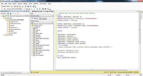 mdx query tutorial in sql server 2008 read olap cube and display in ssrs report with parameter