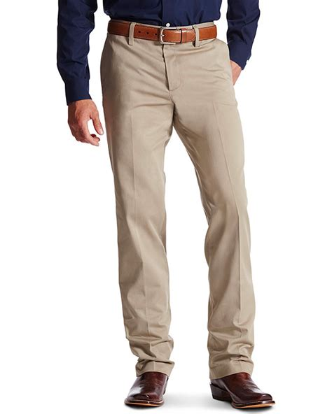 boot cut khakis ariat s m2 performance khaki relaxed fit boot