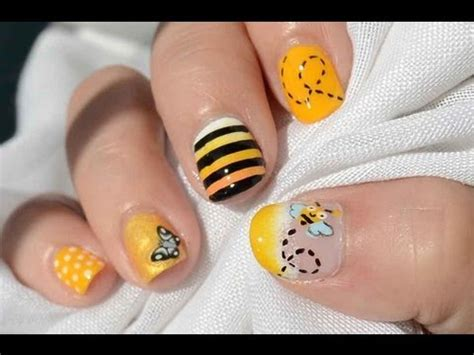 imagenes se uñas acrilicas reto abc u 241 as b de abeja abc nail challenge b for bee