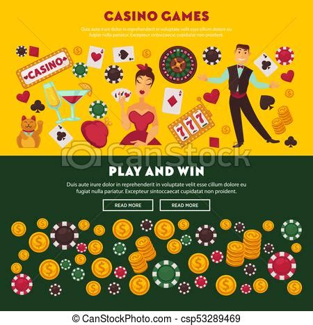 casino games play  win promotional internet posters