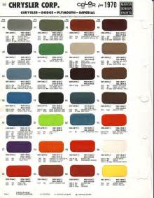 Dodge Vehicle Colors 1970 Paint Codes Mopar Engines More