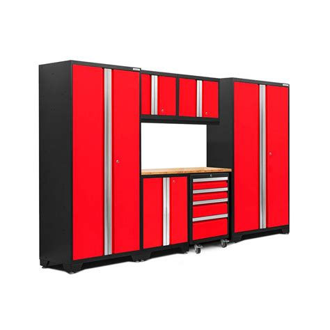 outdoor kitchen server w storage cabinet deep red newage products bold 3 0 77 25 in h x 108 in w x 18 in