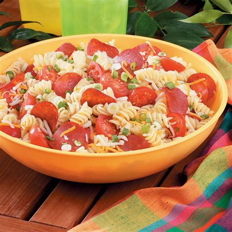 recipe for pasta salad pizza pasta salad recipe taste of home