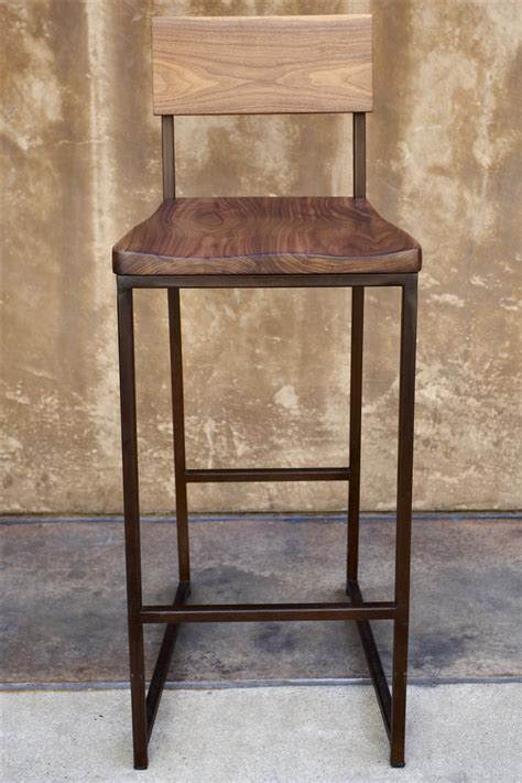 wood and metal stools wood metal counter or barstool kitchen shop