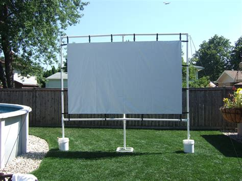 backyard projector screen diy outdoor screen made with gemmy avs forum home theater
