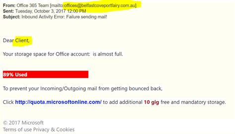 Office 365 Email Java Office 365 Phishing Exles Wireguided Llc