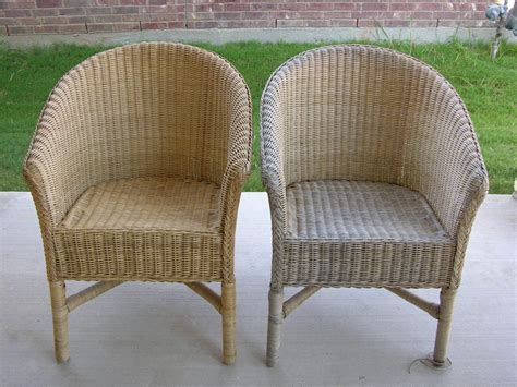 Creative splatter painted wicker chairs