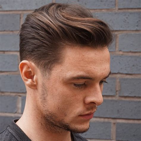 mens combed hairstyles mens combed back hairstyles fade haircut