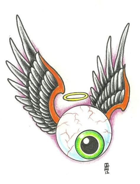 tattoo flying eye flying eye by vikingtattoo on deviantart