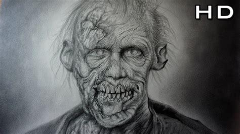 imagenes de dibujos a lapiz de zombies incre 237 ble y aterrador dibujo de un zombie realista a l 225 piz