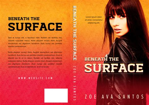 beneath the surface books beneath the surface pre made book cover for sale