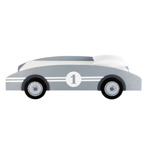 lit voiture enfant 90x190 gris circuit maisons du monde