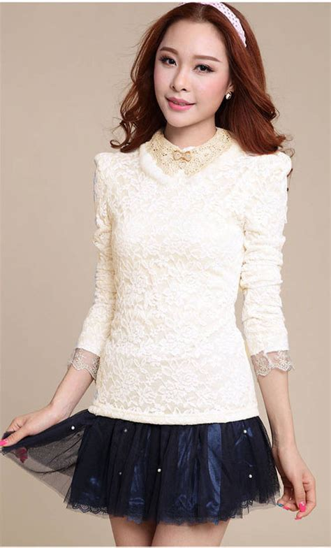 blouse atasan korea baju import atasan wanita korea brokat 2014 http www eveshopashop
