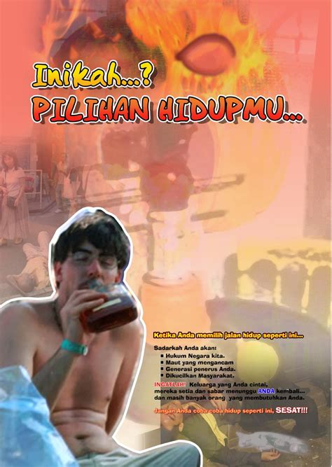 lomba penciptaan desain poster light on bebas narkoba memperingati hari anti madat sedunia 2005