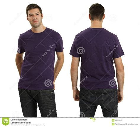 Kemeja Victor Purple Slim Fit Ready wearing blank purple shirt royalty free stock photo image 21120245