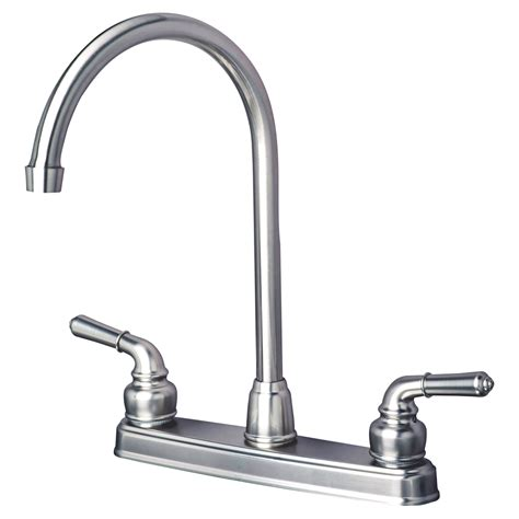 kitchen faucet finishes rv mobile home classic high arc swivel kitchen faucet