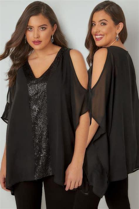 Zaskasya Square Cold Shoulder Big Blouse Plus Size Longline Tops Tops Yours Clothing