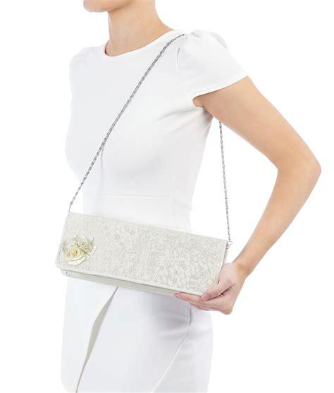 Shoo N Shoulder ruby shoo clutch shoulder handbag silver