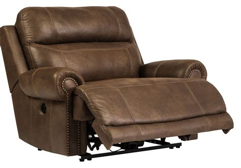 austere brown zero wall wide seat recliner from