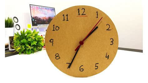 how to make 1 wall clock or table clock from cardboard
