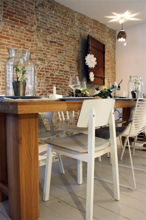 rustic modern dining room tablescape rustic modern contemporary dining room amsterdam by holly marder