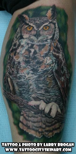 horned owl tattoo great horned owl