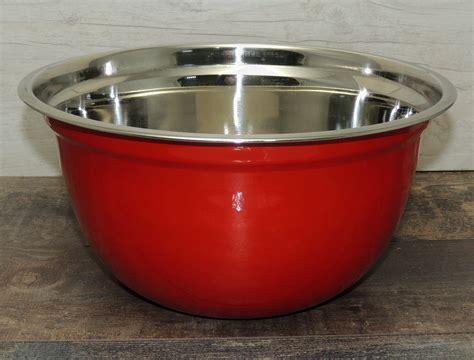 Mangkok Salad Mixing Bowl 16 Cm mixing bowl 22 cm kitchen salad catering sauces serving stainless steel ebay