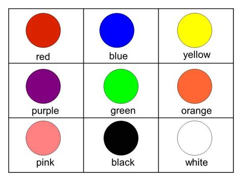color flash cards flashcards for printable free free flashcards