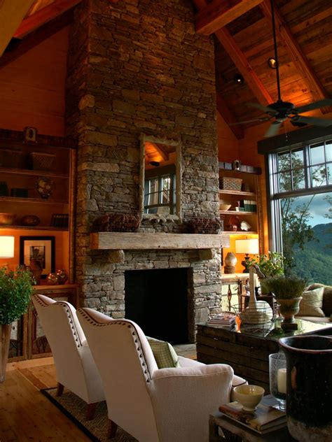 log cabin house tour decorating ideas for log cabins design tour the best of hgtv dream homes hgtv green