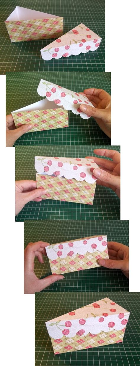 How To Make A Cake Out Of Paper - things to make and do cake slice box